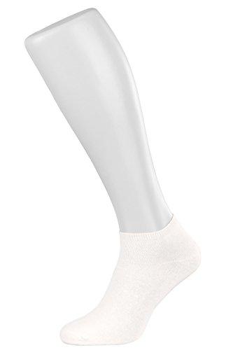 Tobeni 10 Paires de Chaussettes de Bas Femme dans des Dessins modernes et Uni Couleur Blanc Taille 39-42