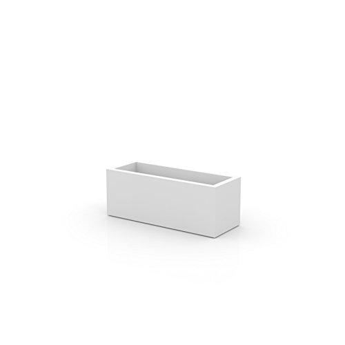 Vondom 41640 Jardinera Universal, Blanco, 40x4x100 cm
