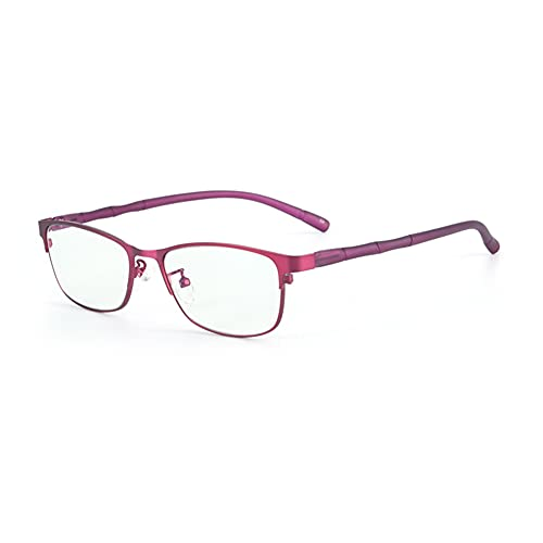HQMGLASSES Gafas presbiopíneas Lady TR90 Anti-Blue Light Computer Goggles, Lente de Resina HD Antifatigue Adecuado para Leer dioptricos +1.0 a +3.0,Rojo,+2.25