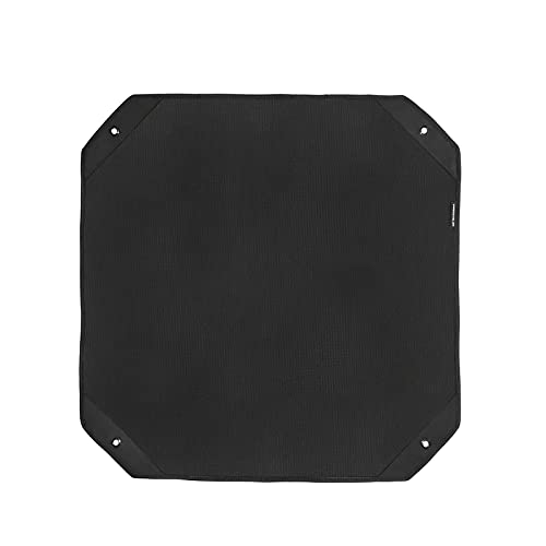 Salangae Tapa de protección para aire acondicionado de exterior Tapa antipolvo de tela Oxford 600D cubierta impermeable negra con 4 elásticos y 4 ganchos (pequeño)