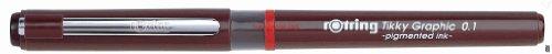 Rotring Tikky Graphic Faserschreiber, Spitze, 0,1 mm, Schwarz, 1 Stück