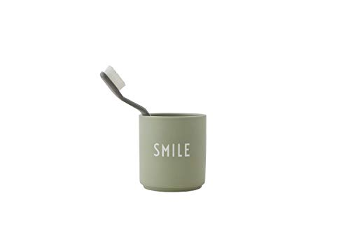 Design Letters - Favourite Becher Smile - Tasse - Bone China Porzellan - Ø 8cm x H: 8,5cm - Spülmaschinefest