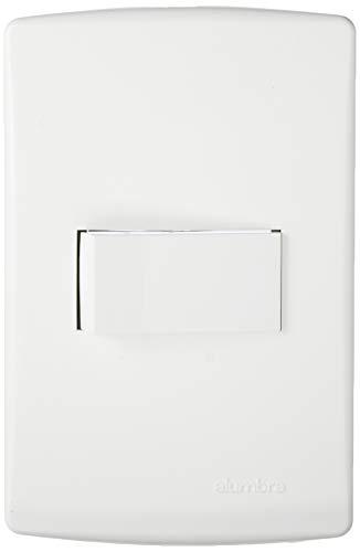 Conjunto com 1 Interruptor Paralelo com Placa 4X2, Alumbra, Siena 6512, Branco