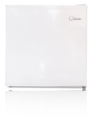 Midea WHS-52FW1 Compact Reversible Single Door Upright Freezer, 1.1 Cubic Feet, White
