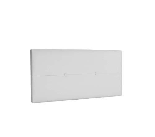 DHOME Cabecero de Polipiel o Tela AQUALINE Pro cabeceros Cabezal tapizado Cama Lujo (Polipiel Blanco, 95cm (Camas 70/80/90))