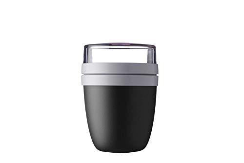 Mepal Lunchpot Ellipse Lunchbox Essensbehälter Reisebecher (Black Edition)
