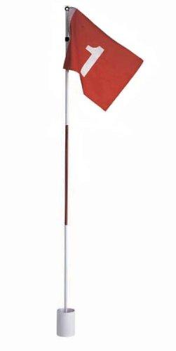 Golf Fahne mit Golfloch und 12 Übungsbälle in gelb