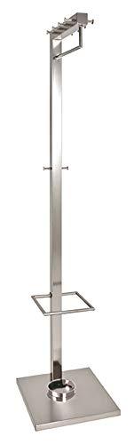 HAKU Möbel Garderobenständer - Edelstahloptik mit 8 Haken, Höhe 180 cm