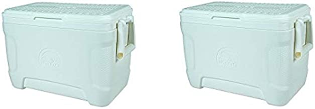 Igloo Marine Contour Cooler, 25 Quart 23 L, White (2-(Pack))