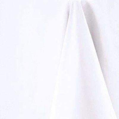 Blanc Doux Toucher Coton Nappe Ronde 132 cm de diamètre