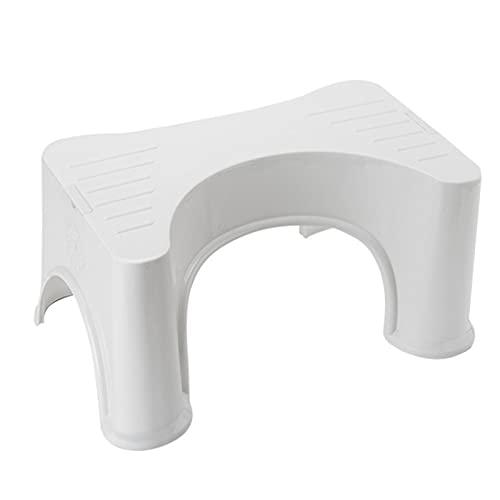 Taburete para inodoro en cuclillas, taburete para adultos, asiento de inodoro creativo, práctico almacenamiento de taburete antideslizante para mujeres embarazadas