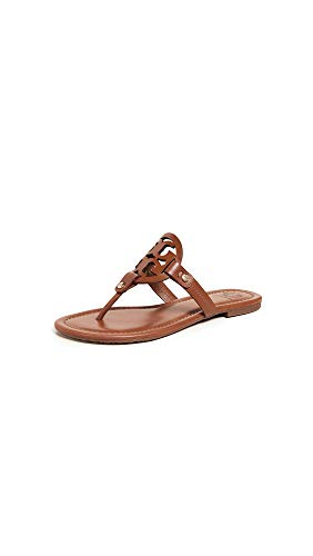 Tory Burch Women's Miller Flip Flops, Vintage Vachetta, Brown, 8 Medium US