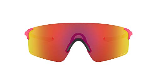 OO9454A Evzero Blades Asian Fit Rectangular Sunglasses, Matte neon Pink/Prizm Ruby, 38 mm