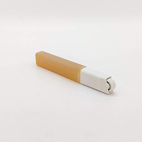 4 Wachspatronen Honig 15 ml + 1 Rollkopf mini passend für Clean & Easy für Haarentfernung Gesicht