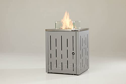 REALGLOW Stripe Gas Patio Heater Fire Pit 13KW
