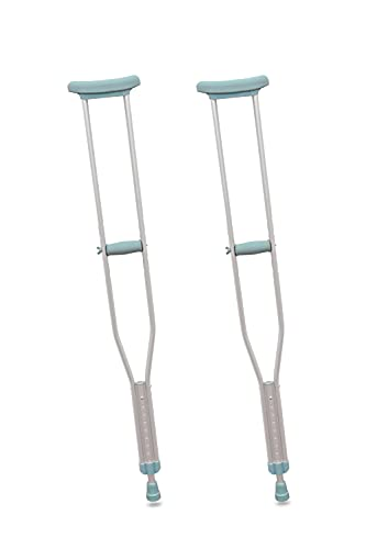 PEPE - Muletas Axilares (2 unidades, TALLA L), Muleta Adulto, Muletas Adulto Regulables Aluminio, Muletas Ortopédicas, Muletas Adulto Regulables en Altura, Muletas para Caminar, Color Gris. ✅