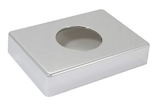 Hygienebags-Halterung, Kunststoffspender weiß/chrom, Hygienebeutel Dispenser, Hygienebeutelspender 138 x 98 x 26 mm, Farbe:chrom