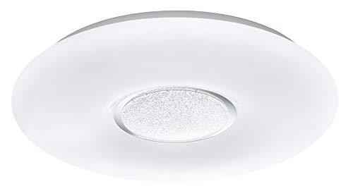 Reality Leuchten Deckenleuchte Akina R67541101, Acryl Weiß, inkl. 21 Watt LED, Helligkeit und Lichtfarbe einstellbar, Nachtlicht Funktion, Fernbedienung