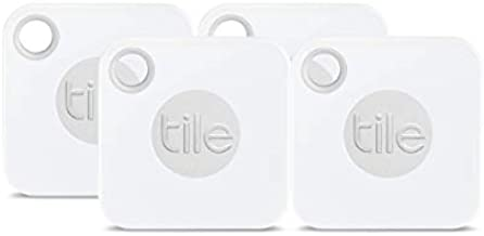 Tile Inc, Mate, Bluetooth Tracker and Finder, Water Resistant, Replaceable Battery, Easy to Attach for Keys, Pet Collars and Bags (4 Pack)