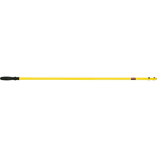 Rubbermaid Commercial Products Commercial 58 inch Straight Fixed HYGEN Quick Connect Handle - Yellow