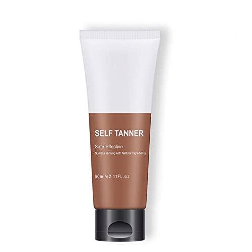 Tan artificial Autoayuda Bronceado Cara Cuerpo Tumbona Loción Crema Natural Tan Acelerador de bronce mejorar la piel Hidratación nutritiva loción natural de larga duración productos de maquillaje