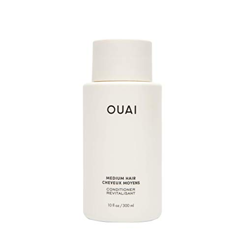 OUAI Medium Conditioner. Strengthening Keratin, Nourishing Babassu and Coconut Oils and Kumquat Extract Leave Hair Hydrated, Shiny and Smooth. Free from Parabens, Sulfates and Phthalates (10 oz)
