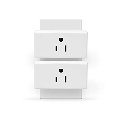 LARKKEY WiFi Smart Mini Socket with Schedule Timer, Remote Control Plug, No Hub Required, Compatible with Alexa, Google Assistant, 2 Pack