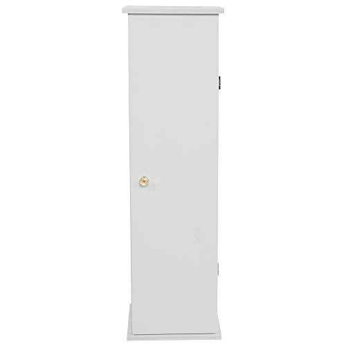 Toalettpapperhållarskåp, Golvstående Badrumsskåp Trätoalettskåp, Toalettborsthållare Badrumsskåp, 65 * 19,5 * 19,5cm-Vit