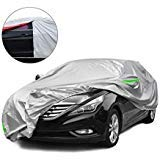 Tecoom Light Shell Breathable Material Classic Zipper Design Waterproof UV-Proof Windproof Car Cover for All Weather Indoor Outdoor Fit 180-195 inches SUV