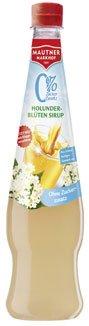 Mautner Markhof 0% fiori di Sambuco-Sciroppo, zucchero senza supplementare - 0, 7L - 6x
