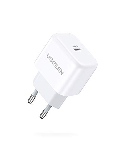 UGREEN 20W USB C Ladegerät USB C Netzteil Mini USB C Power Adapter Ladestecker, kompatibel mit iPhone 12, 12 Pro, 12 Pro Max, 12 Mini, 11Pro, SE 2020, X, iPad Pro 2020, Galaxy S21, S20, A51 usw.