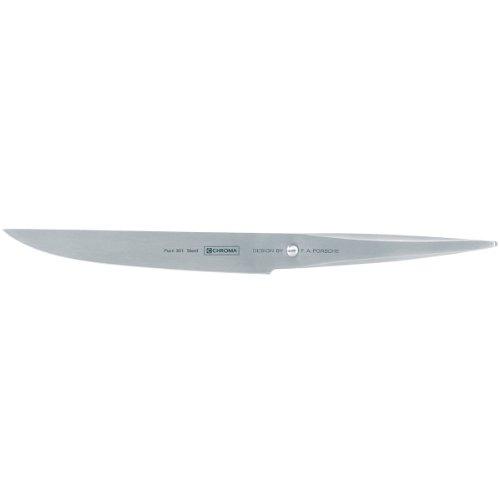 Chroma Messer Type 301, P-15 – Steakmesser mit 12 cm Klinge, Design by F.A. Porsche, Extra scharfes Küchenmesser, Fleischmesser mit ergonomischem Griff