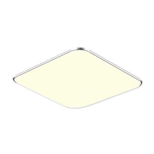 Fscm 36W LED Deckenleuchte Lampe Modern Deckenlampe Deckenleuchten für Bad Schlafzimmer Küche Balkon Korridor Büro, PVC Abdeckung Alu Rahmen Platz 45x45x10cm 2800-6500K Dimmbare mit Fernbedienung IP44
