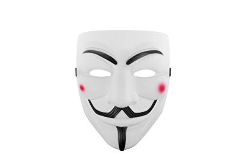 Udekit Hacker Maske V Für Vendetta Maske Für Kinder Frauen Männer Halloween Kostüm Cosplay Weiß