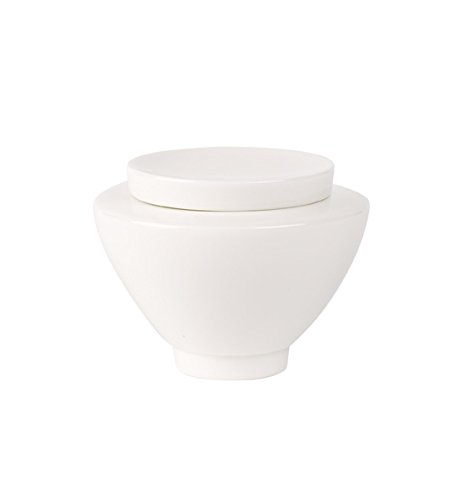Villeroy & Boch La Classica Nuova Sucrier/pot à confiture en porcelaine pour 6 personnes Blanc 0,25 l