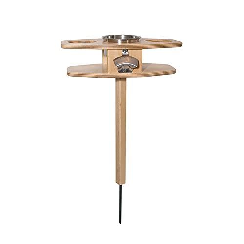 Aoliao - Tavolo da pranzo pieghevole in legno, portatile, ideale come regalo per gli amanti delle birre, con tavolo pieghevole da picnic