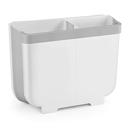 LEEKEYゴミ箱キッチン大容量13L壁掛けゴミ箱折りたたみ生ゴミゴミ袋ホルダー付き超大容量台所用ゴミ箱アウトドアキッチン屋外キッチン車用ミニごみボックス