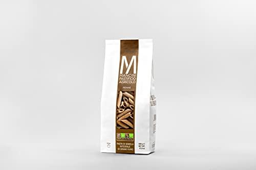 Mancini Pastificio Agricolo - Penne integrali 2 kg (4 confezioni da 500 gr)