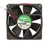 Nidec TA350DC-M33422-16 - Ventilador de CC, bola de 12 voltios, 0,29 A, 3,48 W, 3100 RPM, 48 CFM, 34,8 dB, soporte de brida, 92 mm de...