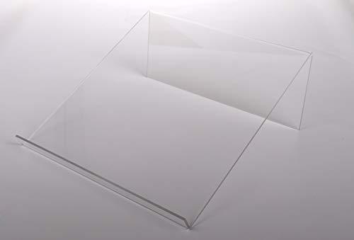 Queence Boekensteun | Boekenstandaard | Tablet-steun | goederen steun | acrylhouder | goederen drager gemaakt van acrylglas | reclamebord 40x41x16 cm