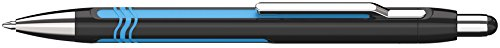 Schneider Epsilon Druckkugelschreiber (Strichstärke XB, Schreibfarbe: blau, dokumentenechte Mine) schwarz-cyan