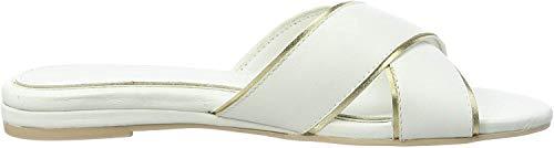 ESPRIT Damen AVA Slide Pantoletten, Weiß (White 100), 36 EU