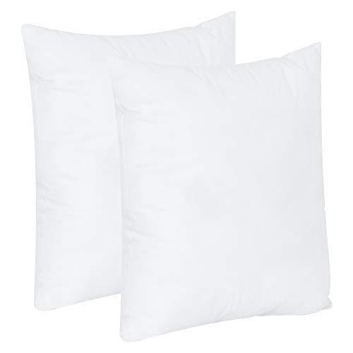 MF International Cushions | Cushion Inserts | Cushion Inner | Bounce Back Cushion | 18 x 18 in / 45 x 45 cm | Hypoallergenic Cushion Pads Inner Stuffer with Hollowfibre Filling (2 Pack | 18 x 18)