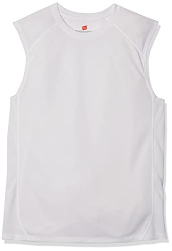 Hanes Men's Sport Performance Muscle Tee, White, X-Large