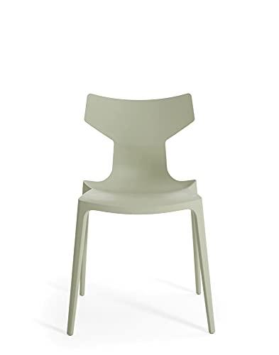 Kartell Re-Chair - Silla, color blanco, juego de 2