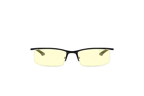 Gunnar Gafas para Videojuegos y Ordenador | Emissary, Montura: Onyx, Lentes: Ámbar | con filtro de Luz Azul | Lente Patentada con protección 65% de Luz Azul y 100% de UV Para Reducir la Fatiga Ocular