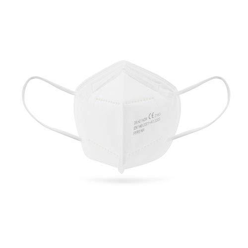 Mascarilla FFP2. Mascarilla ultra protección. 5 capas. Homologada. Caja 25 Unidades. Certificado CE 2163 + Llavero de gel...