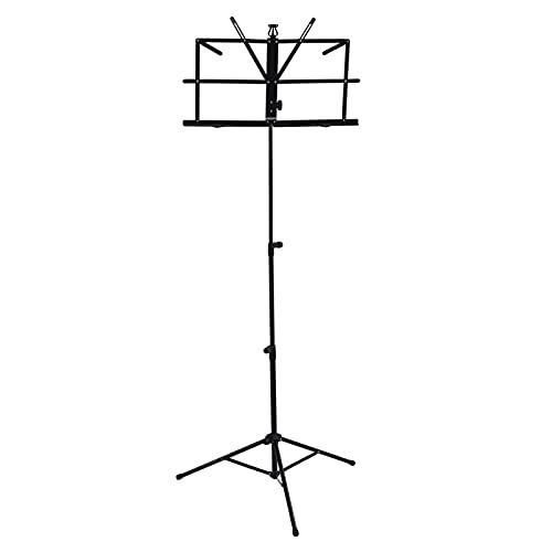 IDWOI Soporte de música plegable, 64 – 140 cm de altura ajustable soporte de guitarra titular de la hoja de música trípode soporte con bolsa de transporte para...