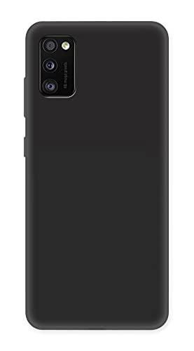 ICOVERI Funda Compatible con Samsung Galaxy A41. Funda Protectora Ultrafina Mate. Carcasa Tacto Suave Antideslizante Antigolpes Anticaidas Compatible con Samsung Galaxy A41. TPU. Color Negro