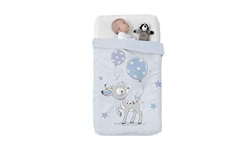 Manterol Baby VIP 530 C08 Babydecke Bamby, 110 x 140 cm, Blau